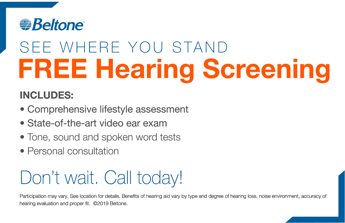 Free hearing screening coupon