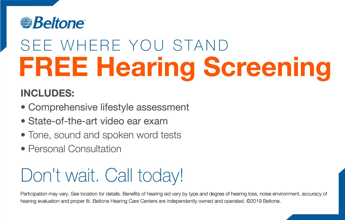 Free in-office hearing aid trial coupon.